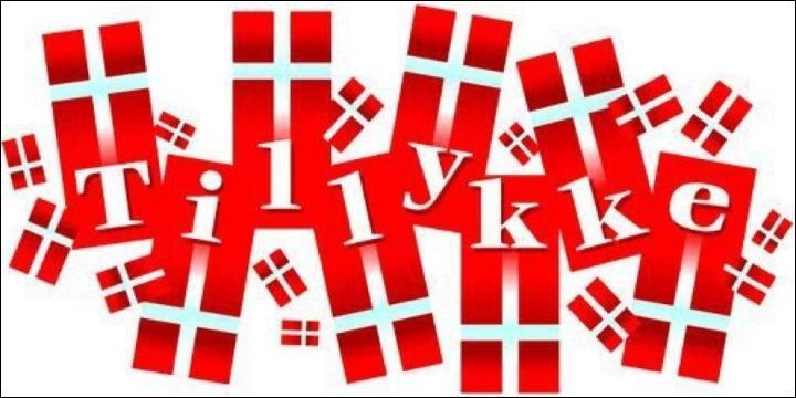 Restons au Danemark. Pour montrer que l'on célèbre un anniversaire, on place un drapeau dannois...