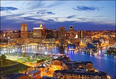 Dans quel état est située la ville américaine de Baltimore ?