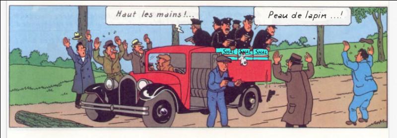 Pour lutter contre ces trafics, Tintin - que l'on voit assis dans un camion lors d'une opération - est chargé d'intervenir : de quoi s'agit-il ici ?