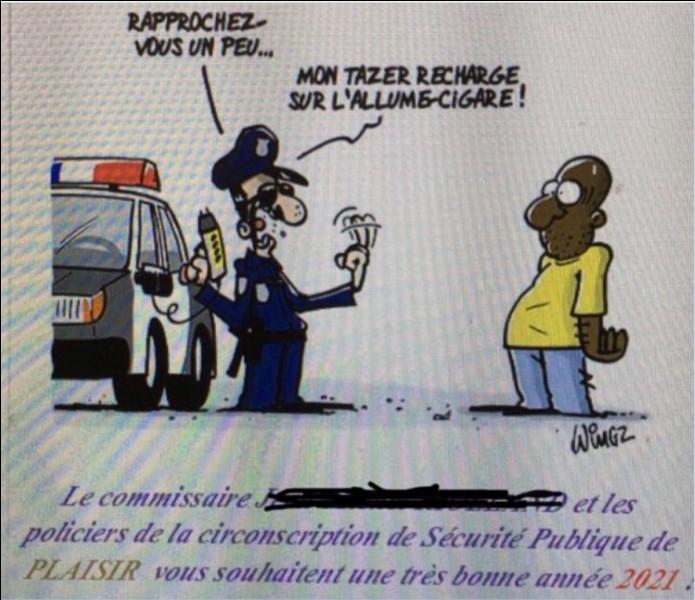 Encore de quoi nous rassurer (enfin, peut-être...) > Il n'y a pas que ce fichu virus qui soit contagieux, le mauvais goût aussi ! Dans quelle ville d'Île-de-France a-t-on pu lire cette carte de voeux ?