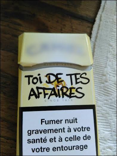 Retrouvez cette marque de clopes (mais sans les fumer, si possible !)