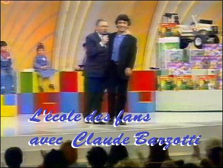 """Claude participe pour la première fois à l'émission de Jacques Martin """"L'École des fans"""" mais c'était en quelle année ?"""