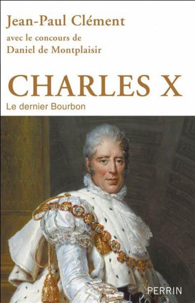 Le roi Charles X est l'arrière-petit-fils de Louis XV.