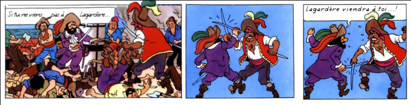 """Pour les tournages dans le style """"cape et épées"""", le capitaine Haddock n'a évidemment pas son pareil..."""