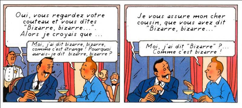 Tintin peut endosser les personnages et les acteurs les plus célèbres, comme ici...