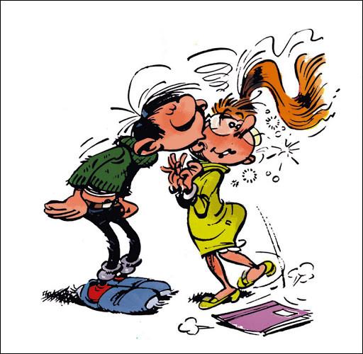Minuit sonne ! Qui est très imprudente et ne respecte pas les distances, pour fêter la bonne année à Gaston !
