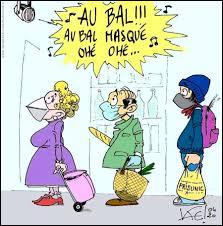 """Ensuite, voici de vieux copains qui entonnent """"Au bal au bal masqué ohé ohé ♪ !"""" :"""