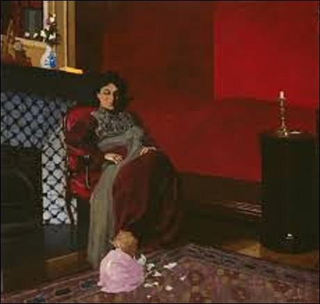 Exécuté en 1899, ''La Chambre rouge, Étretat'' est un tableau réalisé par un nabi. De qui s'agit-il ?