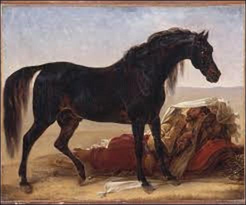 ''Cheval arabe'' ou ''un arabe et son coursier'' est un tableau orientaliste réalisé en 1817. Actuellement exposé au musée des Beaux-Arts de Valenciennes, qui en est l'auteur ?
