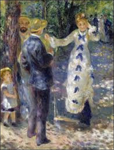 Datant de 1876, quel impressionniste a exécuté cette toile intitulée ''La Balançoire'' ?