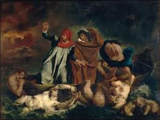 Quel est le nom de ce romantique qui a peint ce tableau intitulé ''La Barque de Dante'' ou ''Dante et Virgile aux enfers'' en 1822 ?