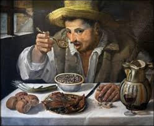 Peint entre 1583 et 1585, ''Le Mangeur de haricots'' est une toile réalisée par un artiste baroque et classique. De qui est ce tableau ?