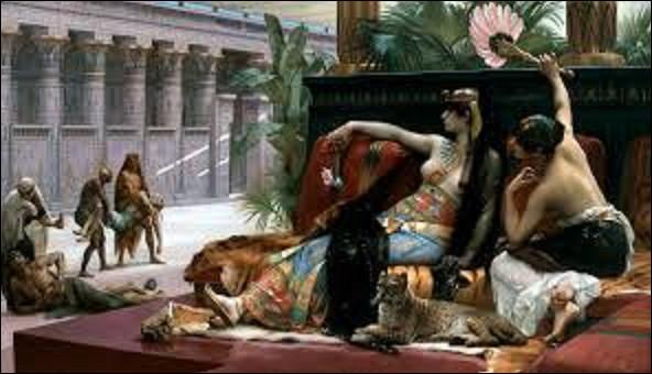 Toile réalisée en 1887, mesurant 1,65 m de hauteur sur 2,90 de largeur, ''Cléopâtre essayant des poisons sur des condamnés à mort'' est un tableau d'un peintre académique. De ces trois artistes, lequel a réalisé ce tableau ?