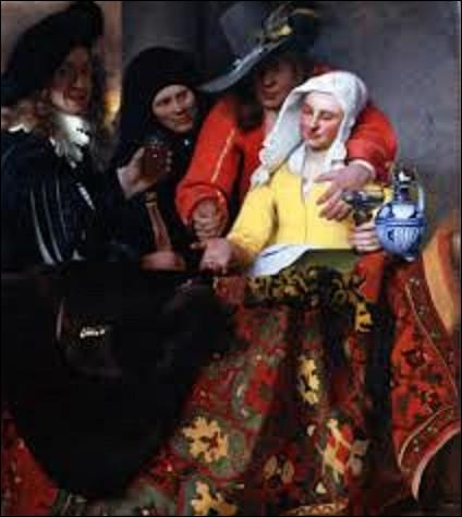 ''L'Entremetteuse'', est une huile sur toile réalisée par un peintre baroque. Datant de 1656, qui en est l'auteur ?