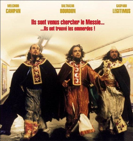 Dans quel film sorti en 2001, Gaspard, Melchior et Balthazar sont-ils tombés dans une faille temporelle ?