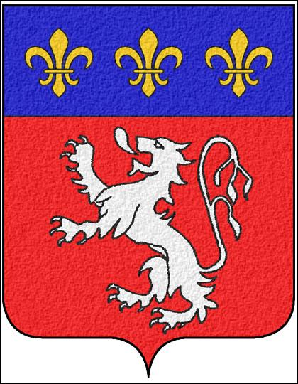 Voici le blason de la région Rhône-Alpes ! ''De gueules au lion d'argent armé et lampassé du même, au chef d'azur chargé de trois fleurs de lys d'or''.Quelle est la couleur ''gueules'' ?