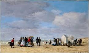 """Qui a peint """"A la plage à Trouville"""" ?"""