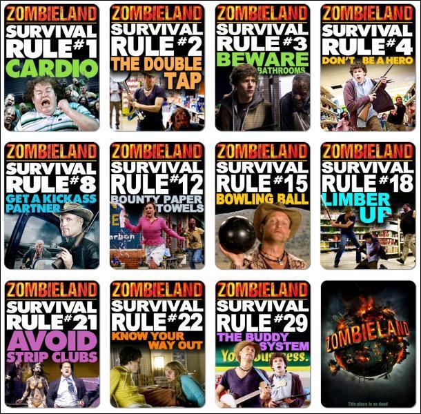 Combien y a-t-il de règles pour survire a zombieland ?