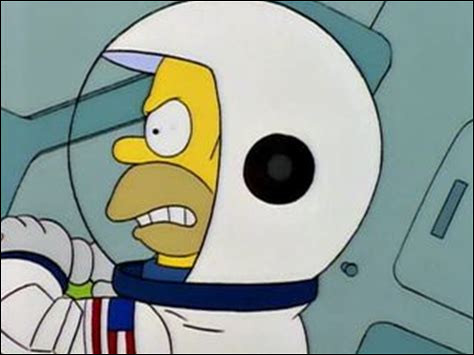 Que mange Homer Simpson dans l'espace sur une musique classique ?