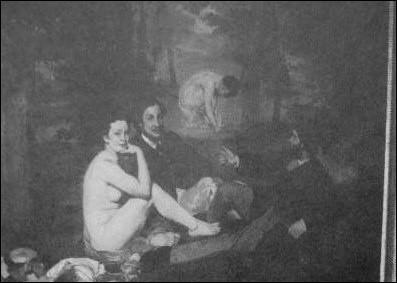Ce tableaude Manetqui fitscandale au salon des refusés en 1863 s'intitule :