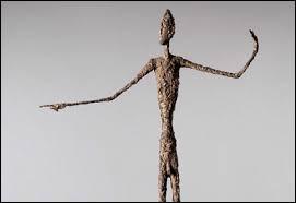 """Qui a réalisé la sculpture nommée """"L'Homme au doigt"""" ?"""
