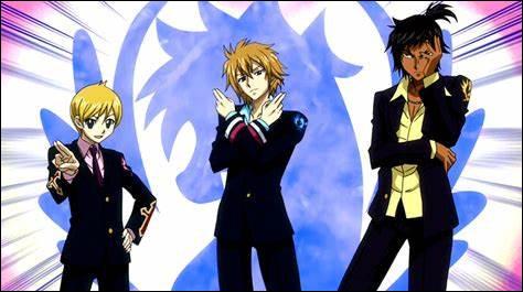 Comment se nomme le trio formé par Hibiki Leithis, Eave Tilm et Ren Akatsuki des BluePegasus ?