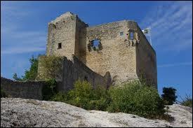 Campé au sommet d'un rocher à pic surplombant la ville, voici le château médiéval...