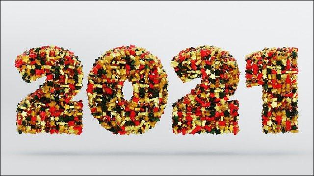 """Theor, très présent sur les forums, change sa photo de profil tous les jours. Pour honorer le nouvel an 2021 et la nouvelle année, il affiche un grand """"2021"""". De quoi cette inscription est-elle faite ?"""