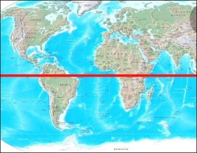 Comment s'appelle la ligne imaginaire qui coupe le globe en deux et portant le même nom qu'un pays d'Amérique ?