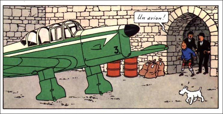 Franchement, Mc Gyver à côté de Tintin, c'est de la gnognote ! Il n'y a rien qui vous choque, sur cette image ?