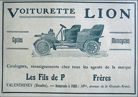Quel est le nom de ces trois frères, Pierre, Robert et Jules qui se lancent en 1897 dans la fabrication de cycles, puis en 1906 dans la production d'une voiturette automobile ?