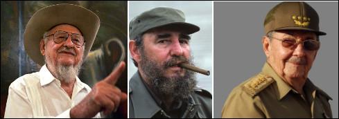 Quel est le nom de ces trois frères, Ramón, Fidel et Raúl, célèbres hommes politiques cubains ?
