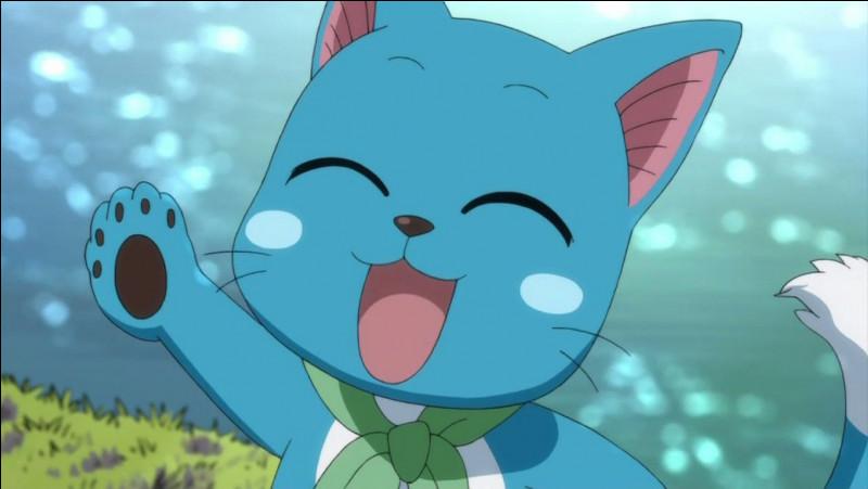 Comment s'appelle le chat qui accompagne Natsu Dragnir ?