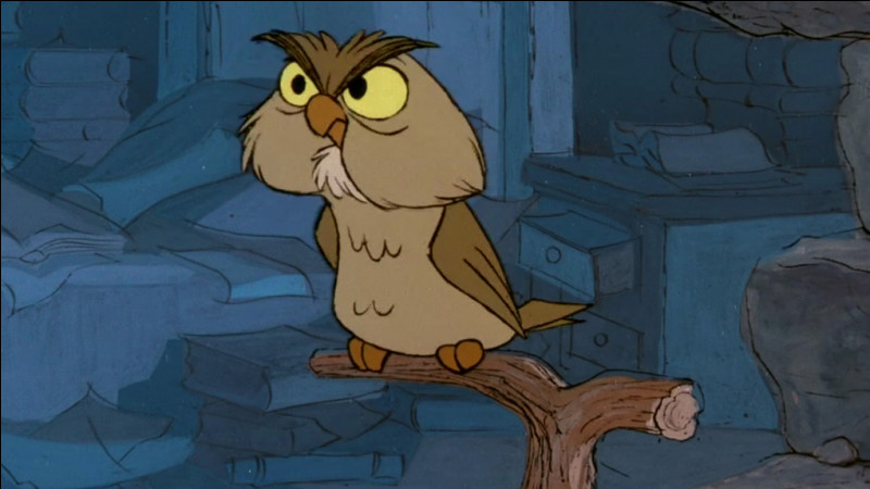 """Comment s'appelle le hibou de Merlin dans """"Merlin l'Enchanteur"""" ?"""