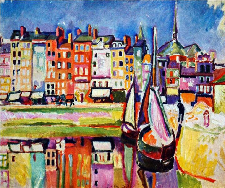 """Est-ce Dufy qui a peint """"Vieilles Maisons à Honfleur"""" ?"""