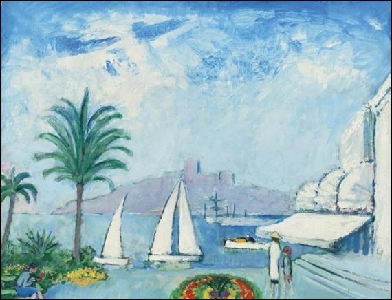 """Est-ce Dufy qui a peint """"Les Voiliers à Cannes"""" ?"""