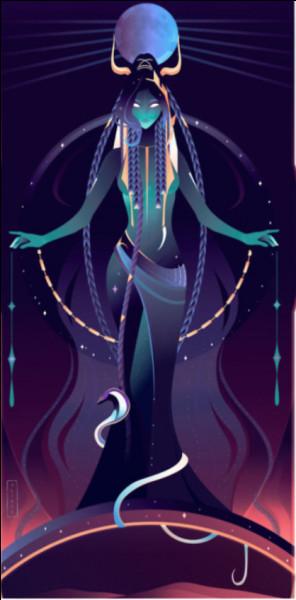 Voici la mère de notre déesse ci-dessus, mais quel est son nom ?
