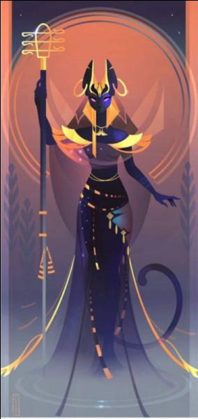 Cette déesse bien connue porte une tête de...