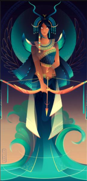 Comment est nommée cette déesse, fille de Rê, qu'on associe au fleuve Nil ?