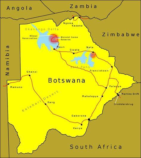 Des questions plus faciles. Quelle est la capitale du Botswana ?