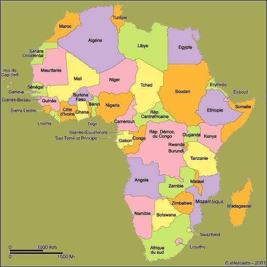 La géographie du continent africain