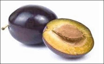 Quelle est cette prune oblongue charnue et violette ?