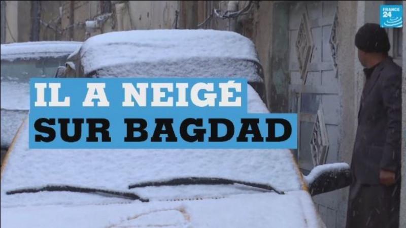 En février, il a neigé à Bagdad pour la deuxième fois en...