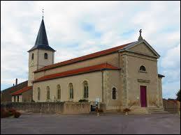 Nous sommes maintenant en Lorraine devant l'église Saint-Lambert de Fonteny. Nous sommes dans le département ...