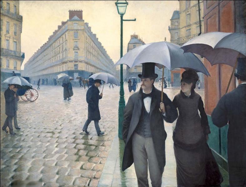 """Quel peintre français du XIXe est l'auteur du tableau """"Jour de pluie à Paris"""" ?"""