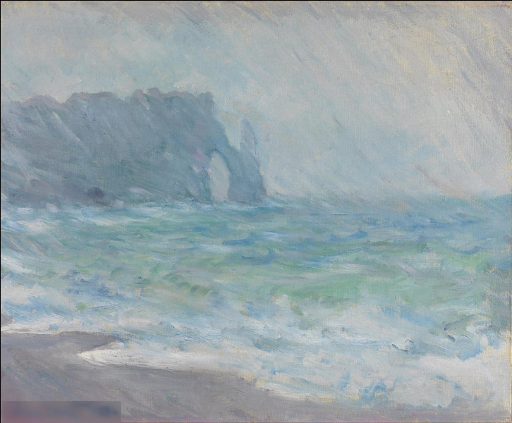 """Qui a réalisé le tableau impressionniste """"Pluie à Etretat"""" ?"""
