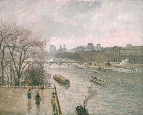 """Qui a réalisé le tableau """"La Seine et le Louvre sous la pluie"""" ?"""