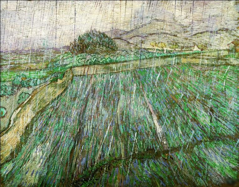 """Qui a peint le tableau """"Champs sous la pluie"""" ?"""