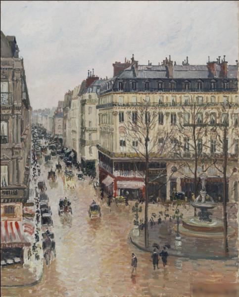 """""""Rue Saint-Honoré sous la pluie"""" est un tableau de quel peintre ?"""