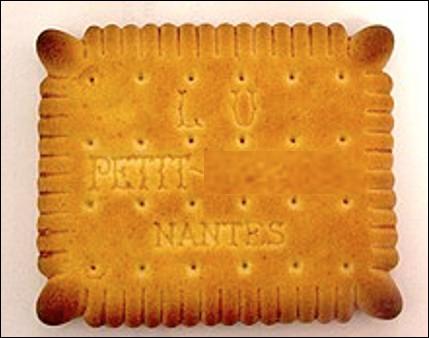 Quel est ce biscuit lisse et dentelé à 24 poinçons, originaire de la ville de Nantes ?
